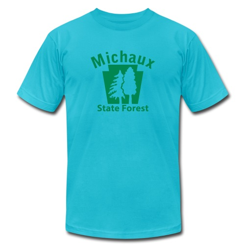 Michaux State Forest Keystone (w/trees) - Unisex Jersey T-Shirt by Bella + Canvas