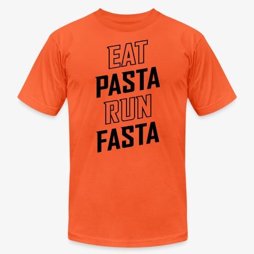 Eat Pasta Run Fasta v2 - Unisex Jersey T-Shirt by Bella + Canvas
