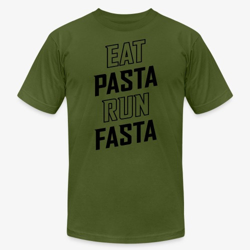Eat Pasta Run Fasta v2 - Men's Jersey T-Shirt