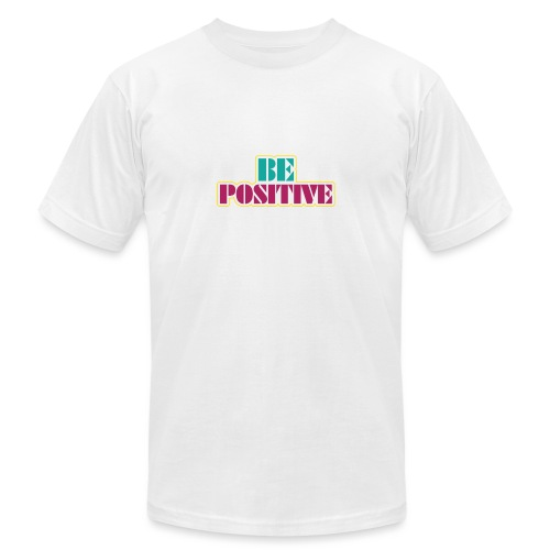 BE positive - Unisex Jersey T-Shirt by Bella + Canvas