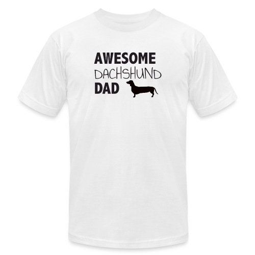 Awesome Dachshund Dad - Unisex Jersey T-Shirt by Bella + Canvas