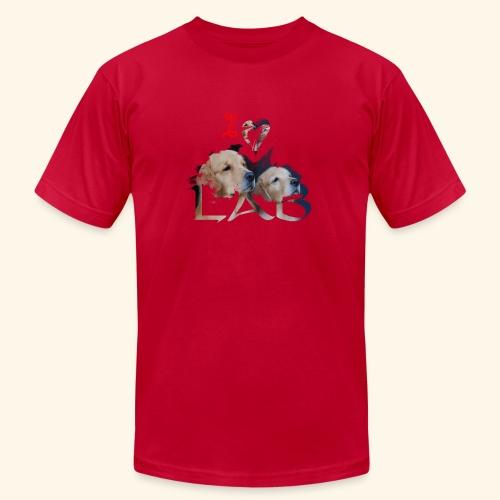 I love Lab - Unisex Jersey T-Shirt by Bella + Canvas