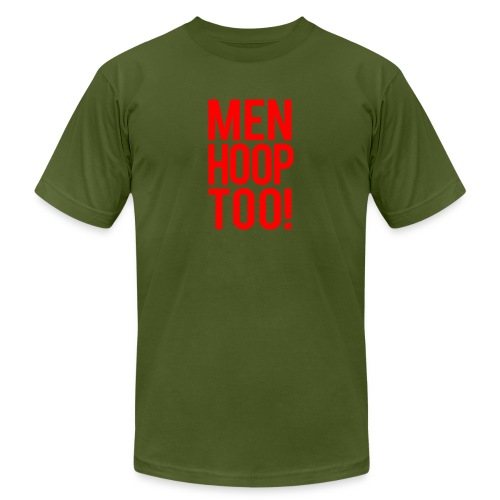 Red - Men Hoop Too! - Unisex Jersey T-Shirt by Bella + Canvas