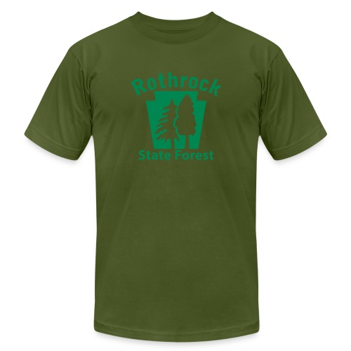 Rothrock State Forest Keystone (w/trees) - Unisex Jersey T-Shirt by Bella + Canvas