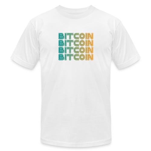 Bitcoin Art Deco Tshirt - Men's  Jersey T-Shirt