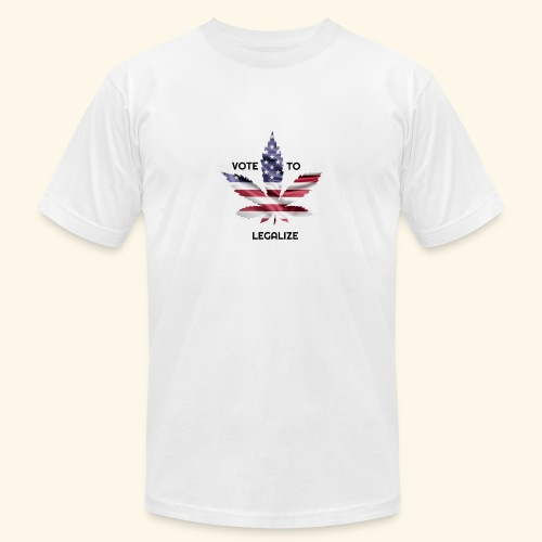 VOTE TO LEGALIZE - AMERICAN CANNABISLEAF SUPPORT - Unisex Jersey T-Shirt by Bella + Canvas