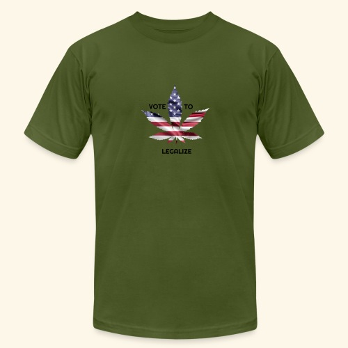 VOTE TO LEGALIZE - AMERICAN CANNABISLEAF SUPPORT - Men's Jersey T-Shirt