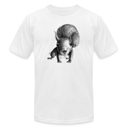 Cute Curious Squirrel - Unisex Jersey T-Shirt by Bella + Canvas
