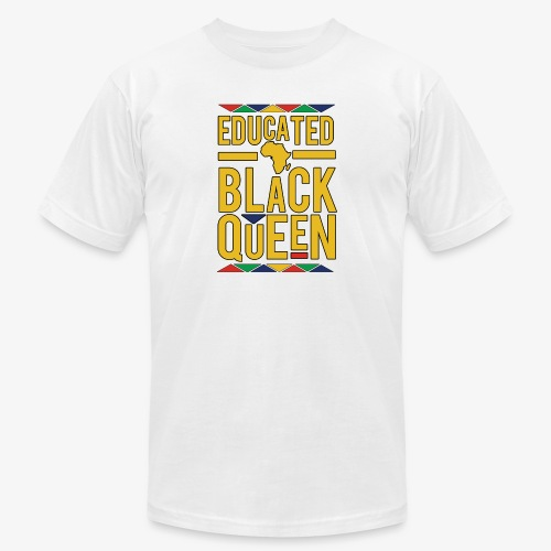 Dashiki Educated BLACK Queen - Men's Jersey T-Shirt
