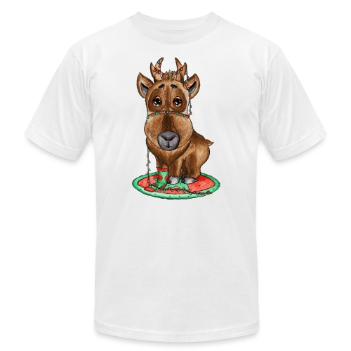 reindeer refined scribble - Unisex Jersey T-Shirt by Bella + Canvas