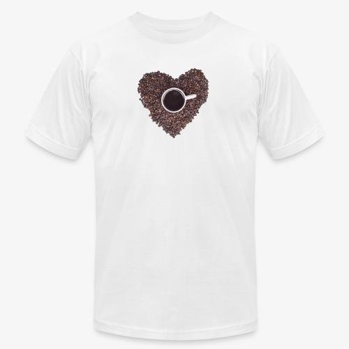 I Heart Coffee Black/White Mug - Unisex Jersey T-Shirt by Bella + Canvas