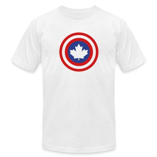 Captain Canada Shield 2 Colour - Unisex Jersey T-Shirt by Bella + Canvas
