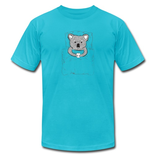 Print With Koala Lying In A Bed - Unisex Jersey T-Shirt by Bella + Canvas