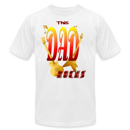 This Dad Rocks! - Unisex Jersey T-Shirt by Bella + Canvas