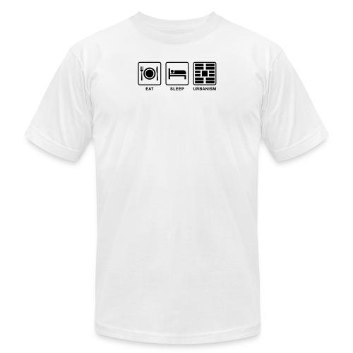Eat Sleep Urb big fork - Unisex Jersey T-Shirt by Bella + Canvas