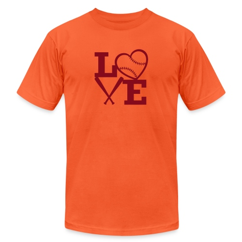 Love baseball - Unisex Jersey T-Shirt by Bella + Canvas
