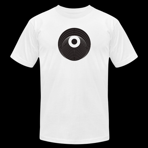 Black Dirt Vortex Logo Dark - Unisex Jersey T-Shirt by Bella + Canvas