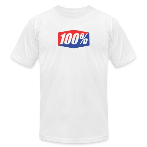 100% Logo Design - Unisex Jersey T-Shirt by Bella + Canvas