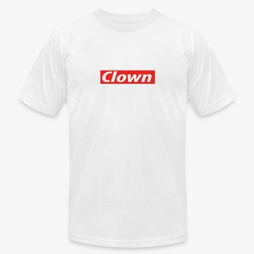 Clown box logo - Unisex Jersey T-Shirt by Bella + Canvas