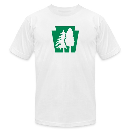 PA Keystone w/trees - Unisex Jersey T-Shirt by Bella + Canvas