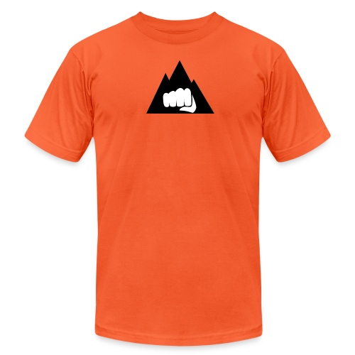 The Mountain Logo T-Shirt (L) Men's Fruit of the L - Unisex Jersey T-Shirt by Bella + Canvas