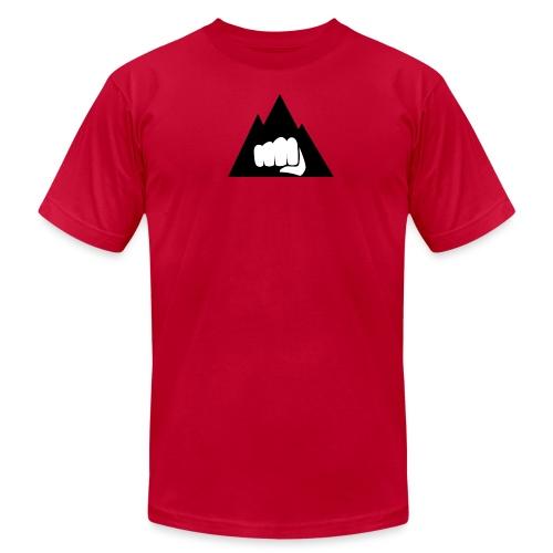 The Mountain Logo T-Shirt (L) Men's Fruit of the L - Unisex Jersey T-Shirt by Bella + Canvas