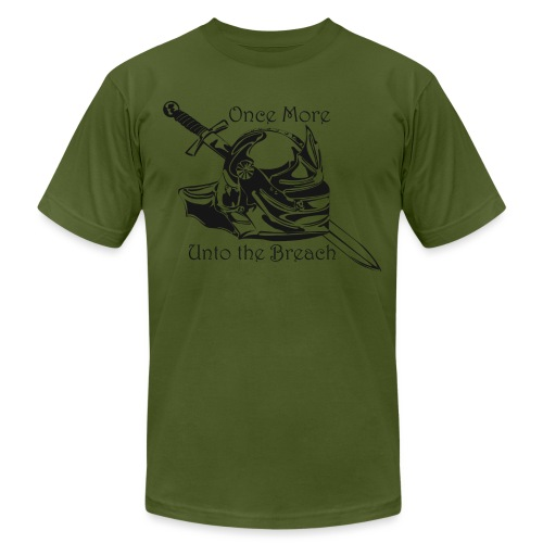 Once More... Unto the Breach Medieval T-shirt - Unisex Jersey T-Shirt by Bella + Canvas