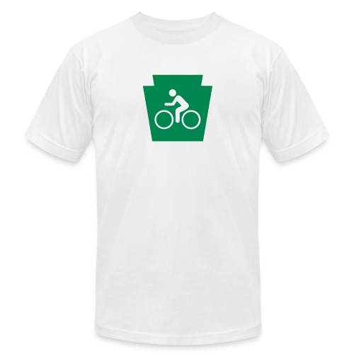 PA Keystone w/Bike (bicycle) - Unisex Jersey T-Shirt by Bella + Canvas