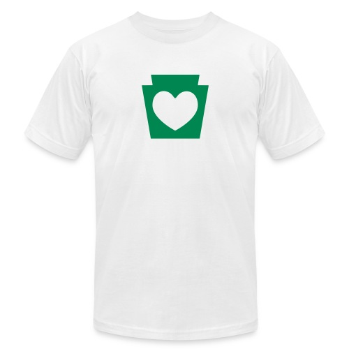 Love/Heart PA Keystone - Unisex Jersey T-Shirt by Bella + Canvas
