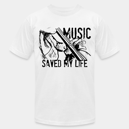 music is live - Unisex Jersey T-Shirt by Bella + Canvas