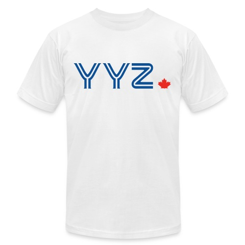 YYZ-Leaf-Blue - Unisex Jersey T-Shirt by Bella + Canvas