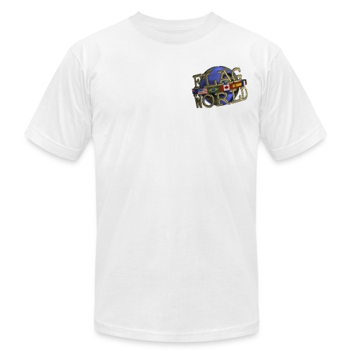 Flagworld Pixel Logo 3000pxwide - Unisex Jersey T-Shirt by Bella + Canvas