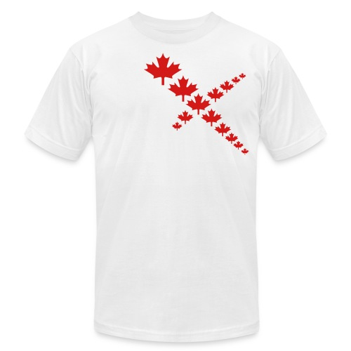 Maple Leafs Cross - Unisex Jersey T-Shirt by Bella + Canvas