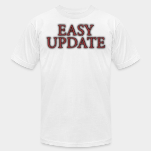 Easy Update Logo Red - Unisex Jersey T-Shirt by Bella + Canvas