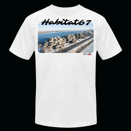 habitat 67 png - Unisex Jersey T-Shirt by Bella + Canvas