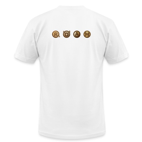 ROAM letters sepia - Men's Jersey T-Shirt