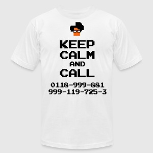 IT Crowd Moss emergency KEEP CALM - Men's T-Shirt by American Apparel