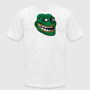 Pepe the Troll Frog - Men's T-Shirt by American Apparel