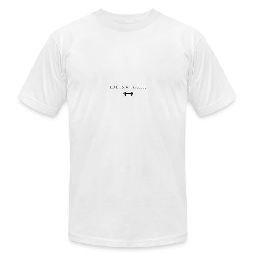 LIFE IS A BARBELL - Men's Fine Jersey T-Shirt