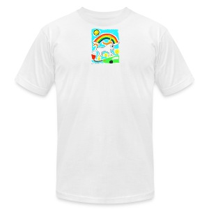 Unicorns are Magical Creatures The Make Electricit - Men's T-Shirt by American Apparel