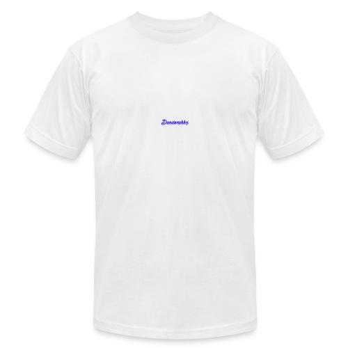 Logo Blue - Men's Fine Jersey T-Shirt