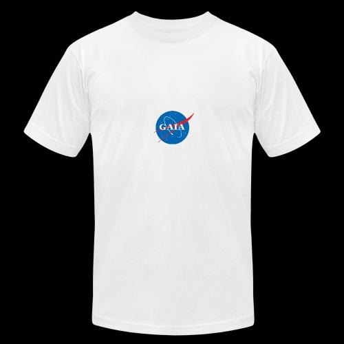Gaia Nasa Logo - Men's Fine Jersey T-Shirt