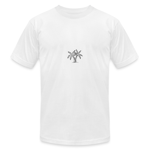 Palm tree embroidery - Men's Fine Jersey T-Shirt