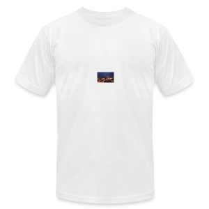 300px-Downtown_Binghamton_at_Night - Men's T-Shirt by American Apparel
