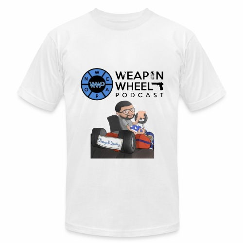 Weapon Wheel Podcast JayMegaGames T-Shirt - Men's Fine Jersey T-Shirt