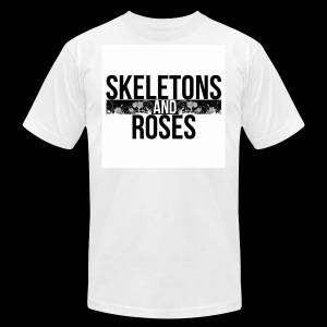 Skeletons And Roses Logo 2 - Men's Fine Jersey T-Shirt