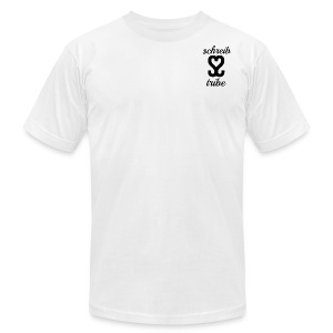 SCHREIB TRIBE MERCH BLACK LOGO - Men's Fine Jersey T-Shirt