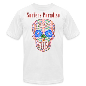 Patame Surfers Paradise Skull Red - Men's Fine Jersey T-Shirt