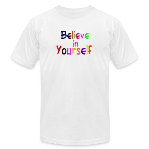 belive in your self - Men's Fine Jersey T-Shirt