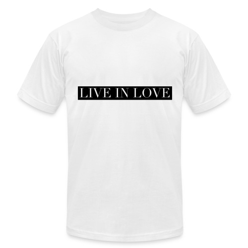 Live In Love - Black On White - Men's Fine Jersey T-Shirt